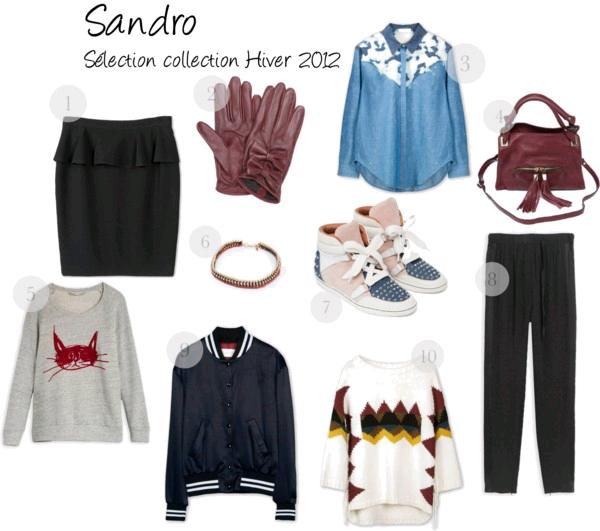 sandro collection hiver 2012