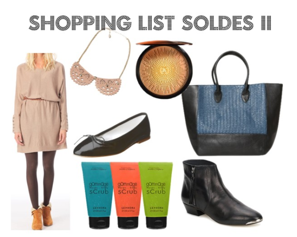 Shopping list soldes 2
