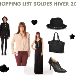 Shopping List Soldes d'Hiver2013