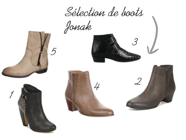 Sélection de boots Jonak