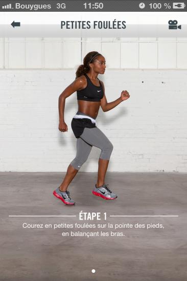 Application Iphone Nike Training