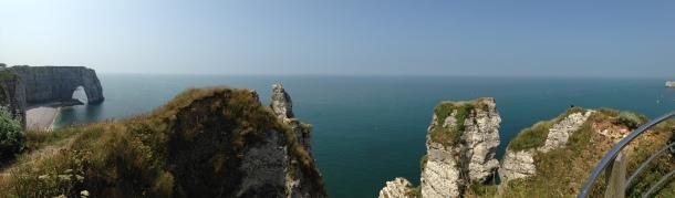 Vue des falaises
