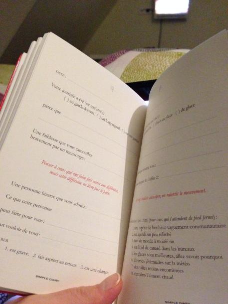 intérieur simple diary