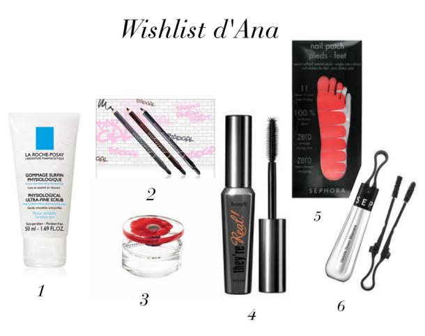 Wishlist Ana janvier2014