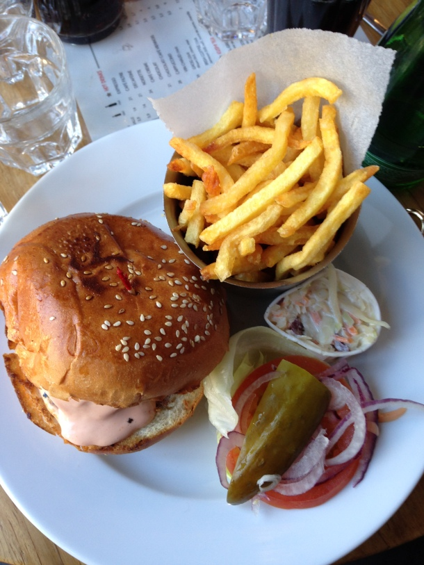 Assiette cheesburger American Kitchen