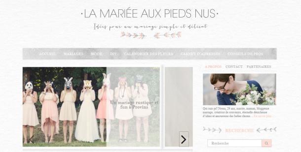 Blog mariage La mariée aux pieds nus