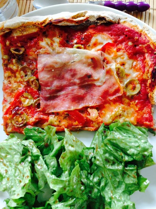 pizza salade