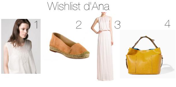 Wishlist Avril Ana