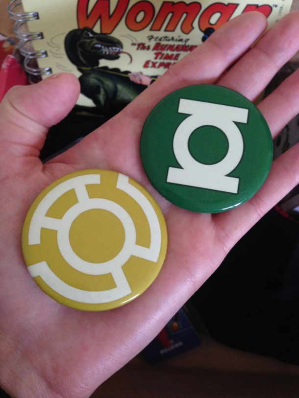 """Aimants luminescents """"Green Lantern"""""""